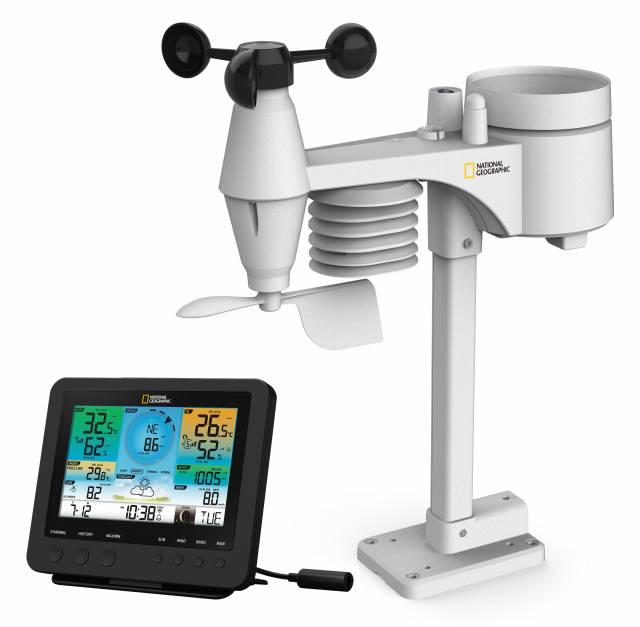 National Geographic WIFI barvni vremenski center s 7v1 senzorjem